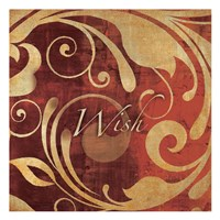 """Red Gold Wish by Kristin Emery - 13"""" x 13"""""""