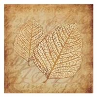 "Gold Leaves 3 by Kristin Emery - 13"" x 13"""