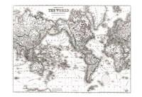 World Map White Fine Art Print