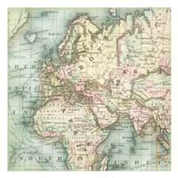 World Map 5 Fine Art Print