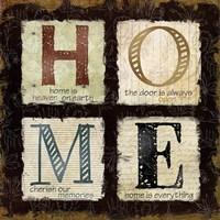 "Home is Heaven by Carol Robinson - 12"" x 12"""