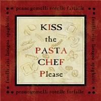 Pasta Sayings III Framed Print