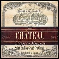 Grand Vin Wine Label II Fine Art Print