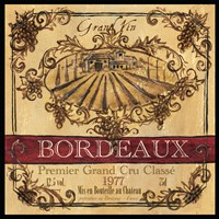 Grand Vin Wine Label III Fine Art Print
