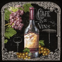 Cafe de Vins Wine I Framed Print