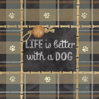 Dog Sentiment Plaid II by Cynthia Coulter - various sizes - $16.99