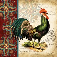 Suzani Rooster I by s - various sizes - $16.99