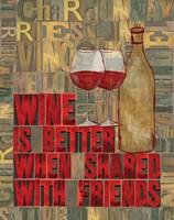 Printers Block Wine and Friends II by Tara Reed - various sizes