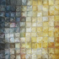 Yellow Gray Mosaics I by s - various sizes