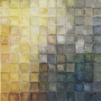 Yellow Gray Mosaics II by s - various sizes, FulcrumGallery.com brand