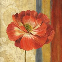 Poppy Tapestry Stripes II Framed Print