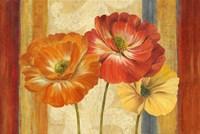Poppy Tapestry Stripes Landscape by Pamela Gladding - various sizes