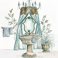 French Bath Sketch II (sink) Fine Art Print
