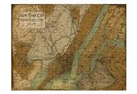 Environs NYC Sepia Fine Art Print