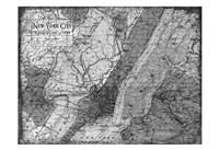 Environs NYC Gray Fine Art Print
