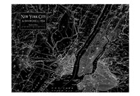 Environs NYC Black Fine Art Print