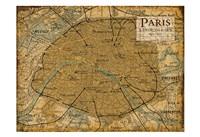 Environs Paris Sepia Fine Art Print