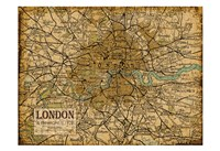 Environs London Sepia Fine Art Print
