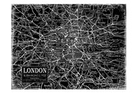 Environs London Black Fine Art Print
