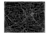 Environs Rome Black Fine Art Print
