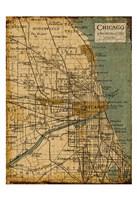"""Environs Chicago Sepia by Carole Stevens - 13"""" x 19"""", FulcrumGallery.com brand"""