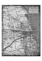 "Environs Chicago Gray by Carole Stevens - 13"" x 19"", FulcrumGallery.com brand"
