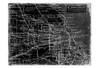 "Environs Chicago Black by Carole Stevens - 19"" x 13"", FulcrumGallery.com brand"