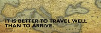 "Old Map with Wisdom I by Jace Grey - 18"" x 6"""