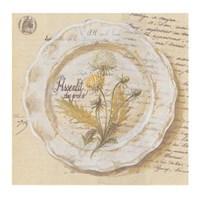 Assiette, Pissenlit des prs Fine Art Print