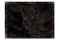 "Western Map by Jace Grey - 19"" x 13"", FulcrumGallery.com brand"