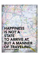 Traveling Map Framed Print