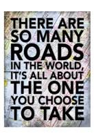 So Many Roads Framed Print