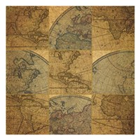 Nine Map Patch Fine Art Print