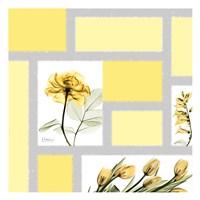"Mondrian Flowers 1 by Albert Koetsier - 13"" x 13"""
