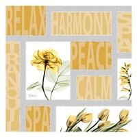 "Mondrian Flowers 3 by Albert Koetsier - 13"" x 13"""