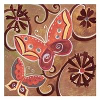 Butterfly Bustle Rust Fine Art Print