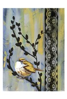 Bird Song Buds II Fine Art Print