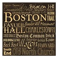 "Boston 1 by Carole Stevens - 13"" x 13"" - $12.99"