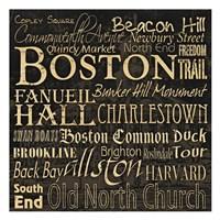 "Boston 2 by Carole Stevens - 13"" x 13"" - $12.99"
