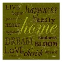 "Home by Carole Stevens - 13"" x 13"", FulcrumGallery.com brand"