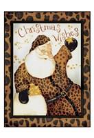 """Cheetah Santa by Dan Dipaolo - 13"""" x 19"""""""