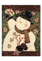 Cheetah Snowman Fine Art Print