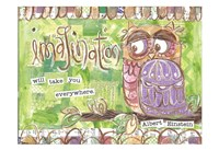 Pastel Owl Family 3 Imagination Will Take You Everywhere Fine Art Print