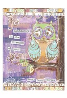 Pastel Owl Family 4 Go Confidently Fine Art Print