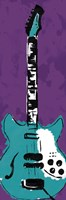 "Electric Guitar by Enrique Rodriquez Jr - 6"" x 18"", FulcrumGallery.com brand"