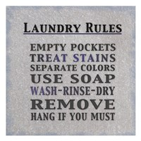 "Laundry Rules by Lauren Gibbons - 13"" x 13"""