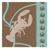 """Lobster Pattern by Lauren Gibbons - 13"""" x 13"""""""
