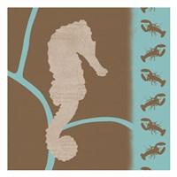 """Sea Horse Pattern by Lauren Gibbons - 13"""" x 13"""""""