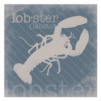 """Lobster Definition by Lauren Gibbons - 13"""" x 13"""""""