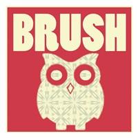 """Owl Brush by Lauren Gibbons - 13"""" x 13"""", FulcrumGallery.com brand"""